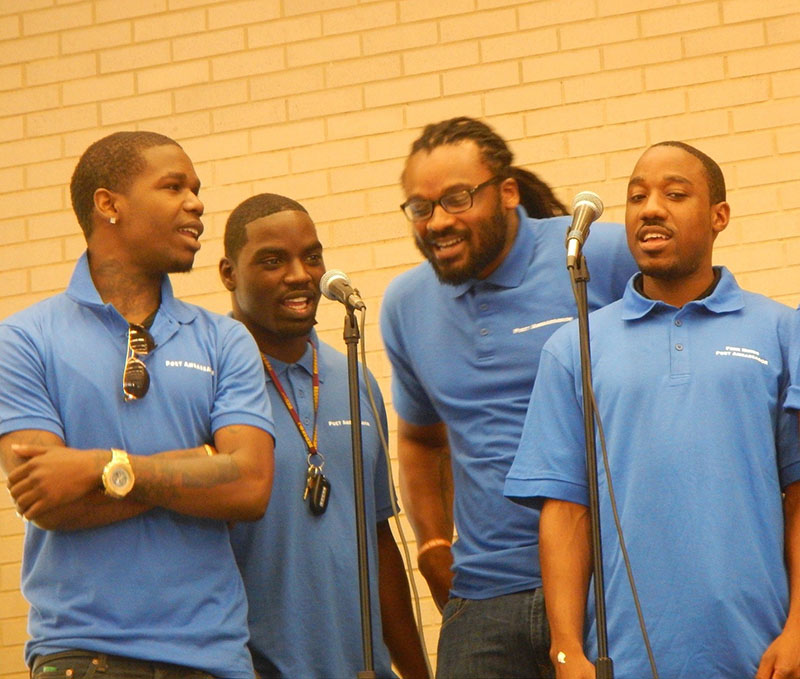 Free Minds Poet Ambassadors (home from prison) perform spoken word poetry at DC's Our City Festival