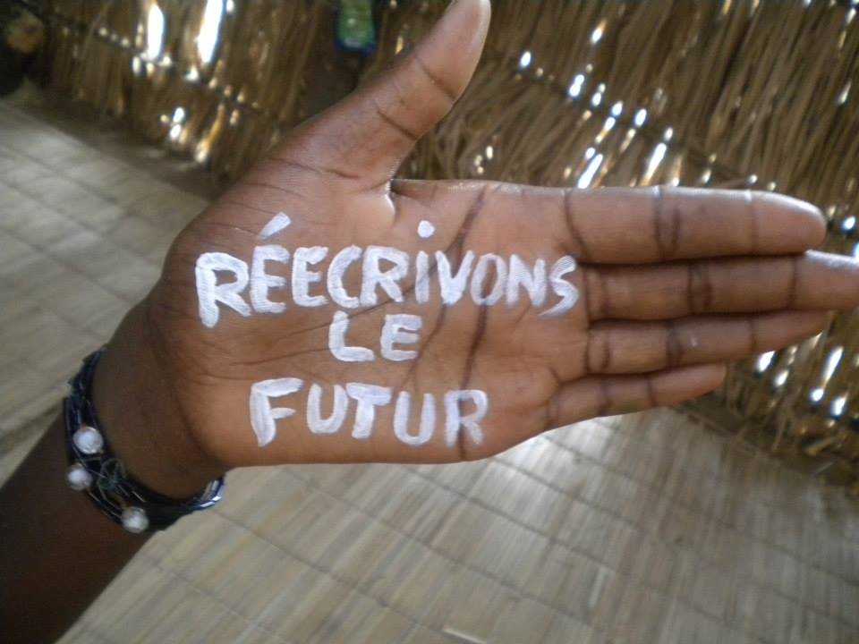 Slogan for the PAJEF programme: Rewrite the future (Source: UNESCO Dakar)